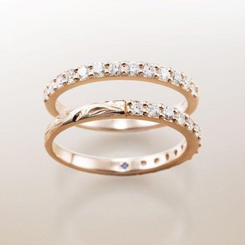 マカナMakanaの婚約指輪でハーフエタニティのPG