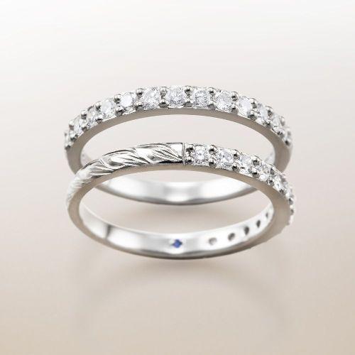 マカナMakanaの婚約指輪でハーフエタニティPt