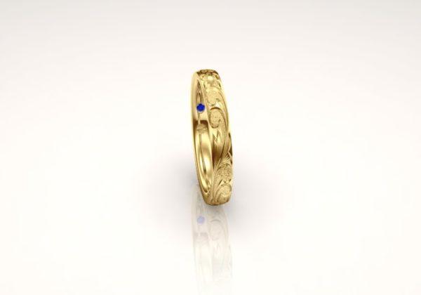 Makanaマカナの結婚指輪で2.8mmのPBのYG1