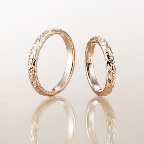 マカナMakanaの結婚指輪で2.8mmのマカナカットのPG
