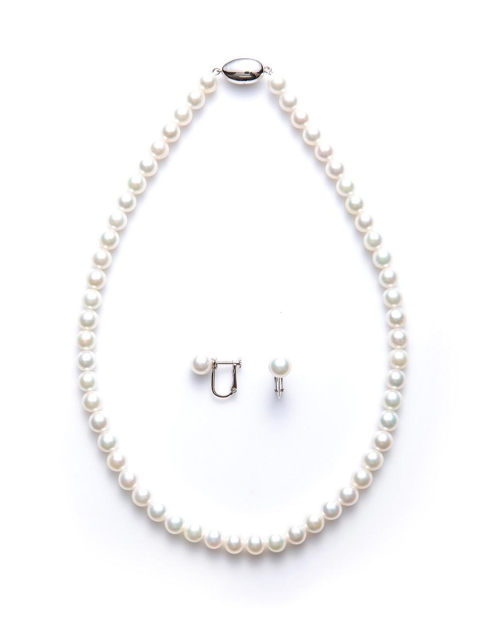 無調色真珠(パール)ネックレス
