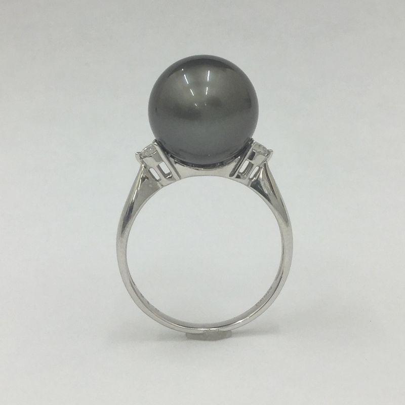黒真珠の指輪(南洋珠リング)