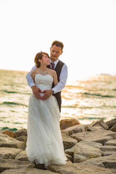 大阪の結婚前撮りりんくうマーブルビーチ