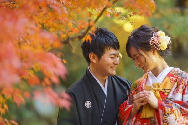 大阪の結婚前撮り和装のロケ岸和田五風荘