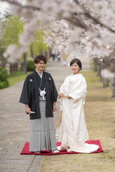 大阪の結婚前撮り和装のロケ岸和田城