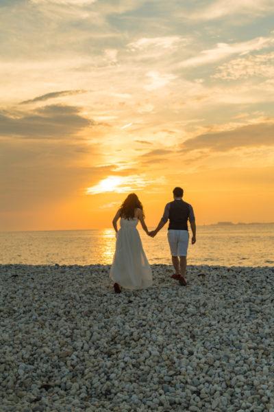 大阪の結婚前撮りドレスロケーション海