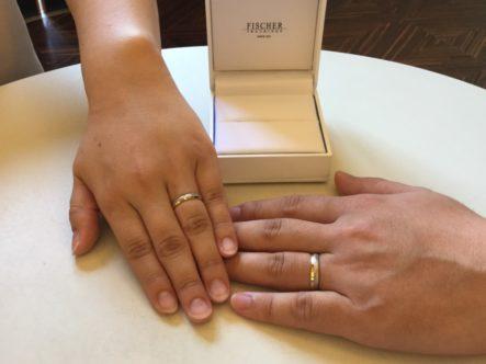 フィッシャーの結婚指輪をご成約頂きました。(和歌山市)