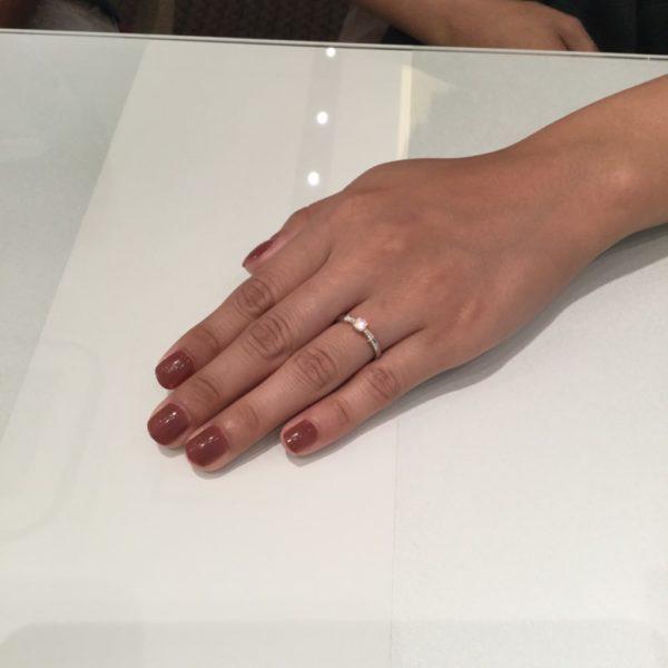 RosettEの婚約指輪とIDEALのダイヤモンド (尼崎市)