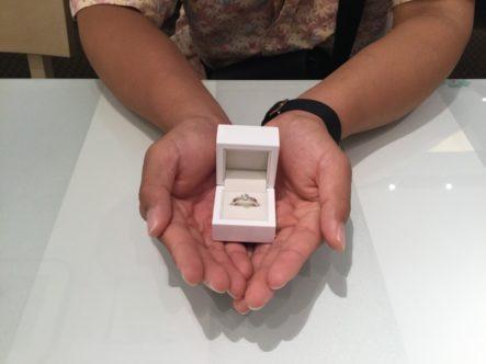 gardenオリジナルの婚約指輪(門真市)