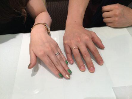 マリアージュエントの婚約指輪・ロゼットとアムールアミュレットの結婚指輪大阪市淀川区