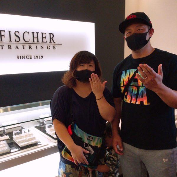 鍛造造りのフィッシャー(FISCHER)の結婚指輪