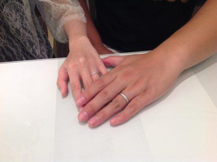 鍛造づくりのFISCHER(フィッシャー)の結婚指輪 大阪府三島郡