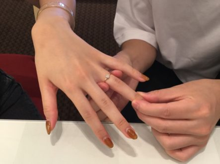 シェールラブの婚約指輪をご成約いただきました(熊取町)