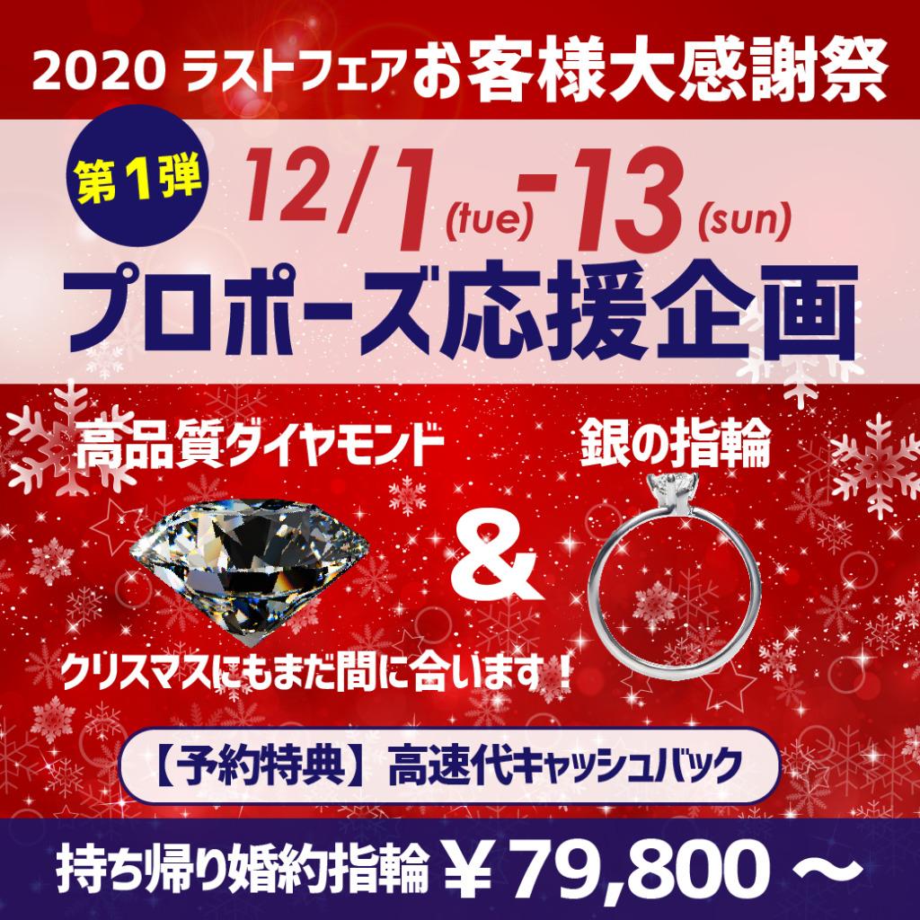 第1弾 プロポーズ応援企画 12/1~12/13