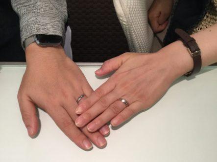 輝彩の婚約指輪とソナーレの結婚指輪をご成約いただきました(岸和田市)