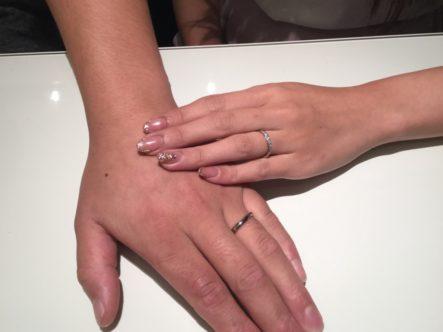 マリアージュエントの結婚指輪をご成約頂きました。(泉南市)