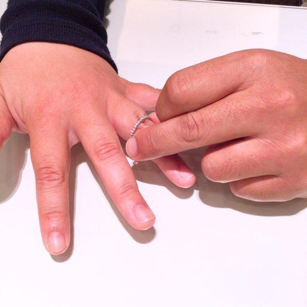 シンデレラの婚約指輪をご成約頂きました。(河内長野市、堺市東区)