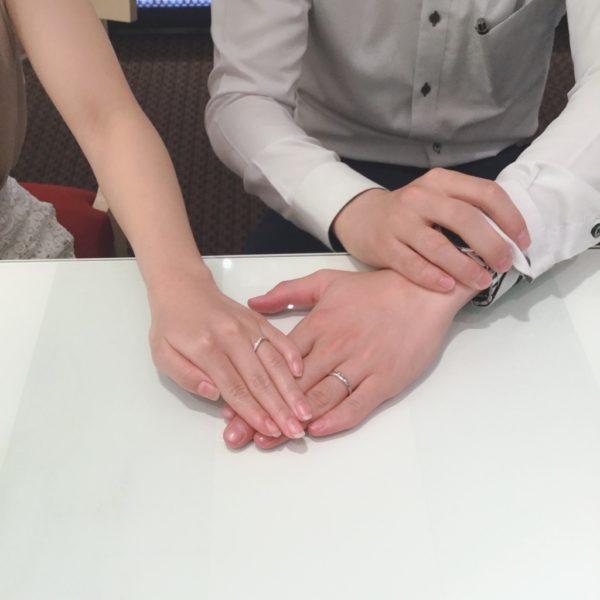 ロゼットの結婚指輪をご成約頂きました。(住吉区)