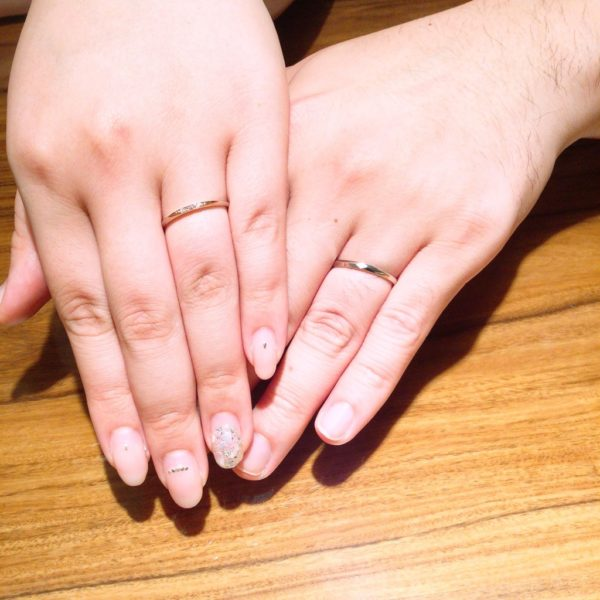 ガーデンオリジナルの婚約指輪とひなの結婚指輪をご成約頂きました。(堺市堺区)