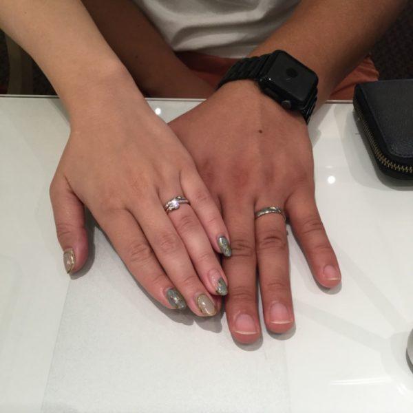 ミルク&ストロベリーの婚約指輪とフィッシャーの結婚指輪をご成約頂きました。(岸和田市)
