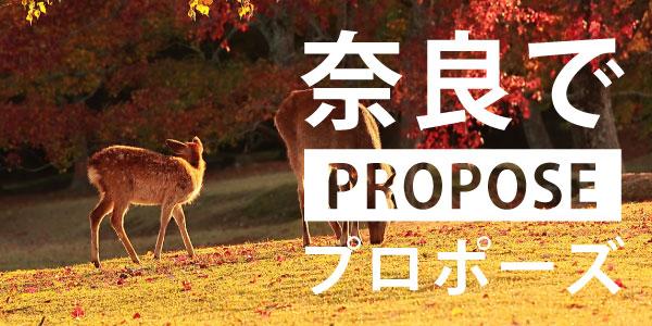 奈良のプロポーズスポット特集