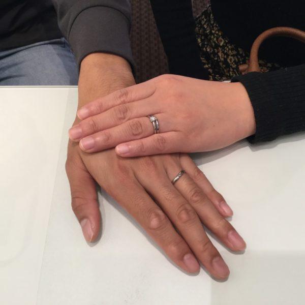 ガーデンオリジナルとアイデアルの婚約指輪とキサイの結婚指輪をご成約頂きました。(泉佐野市)