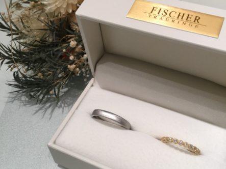 フィッシャーとロゼットの結婚指輪をご成約頂きました。(貝塚市)