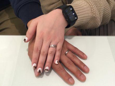 ブリッジの婚約指輪とフィッシャーの結婚指輪をご成約頂きました。(岸和田市・堺市南区)