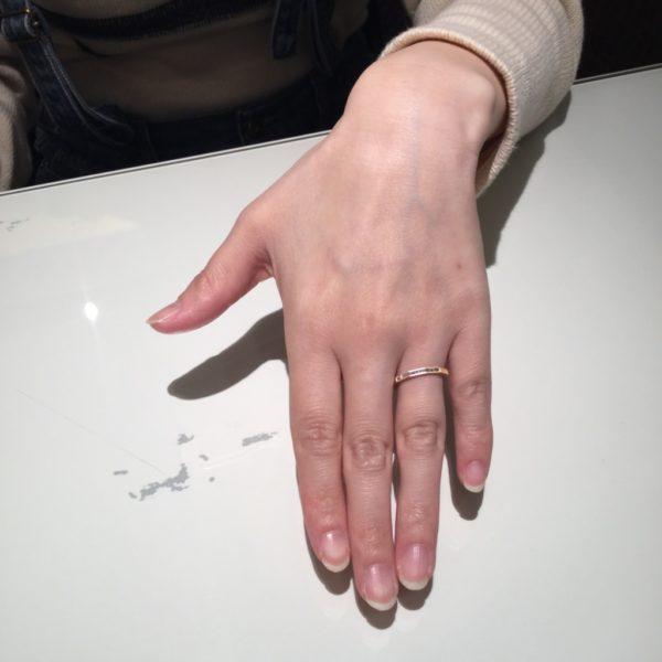 オレッキオの結婚指輪をご成約頂きました。(岸和田市)