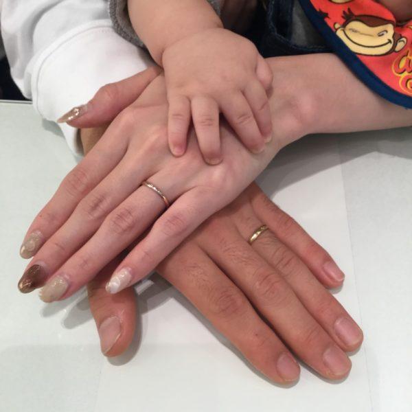 ブリッジの結婚指輪をご成約頂きました。(貝塚市)