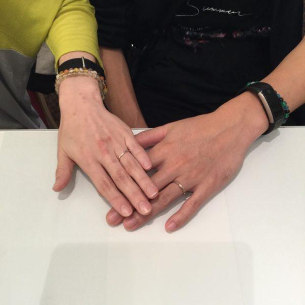 ラパージュの結婚指輪をご成約頂きました。(和歌山市)