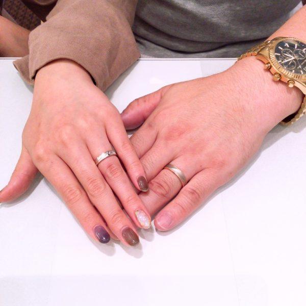 マリアージュの婚約指輪とフィッシャーの結婚指輪をご成約頂きました。(貝塚市)