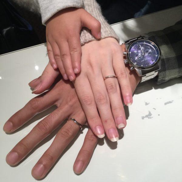 ディーテラスの結婚指輪をご成約頂きました。(岸和田市)