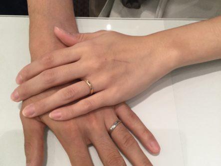 フィッシャーの結婚指輪をご成約頂きました。(泉大津市)