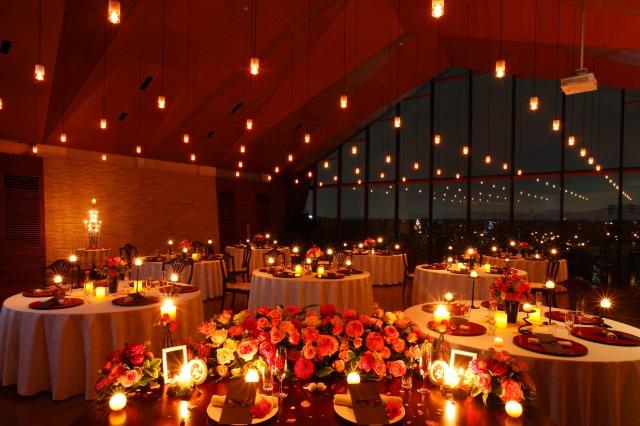 奈良県の結婚式場あしびの郷披露宴会場