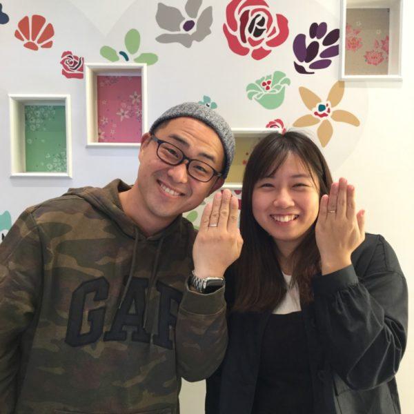 プリートの結婚指輪をご成約頂いきました。(泉南郡)