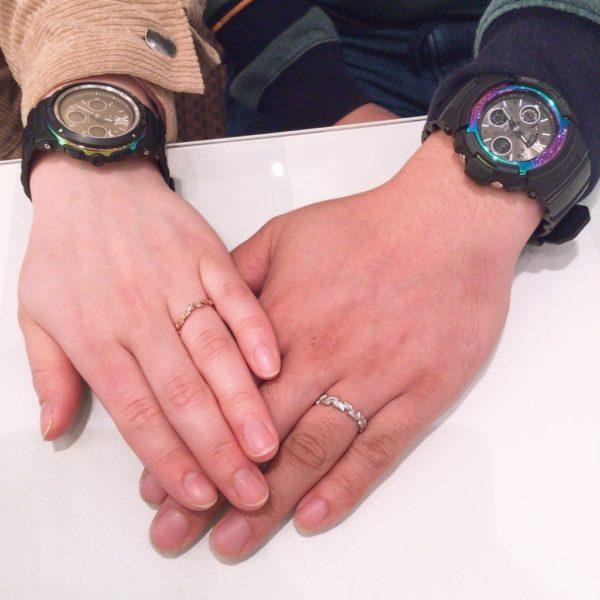 ラムレートの結婚指輪(貝塚市)