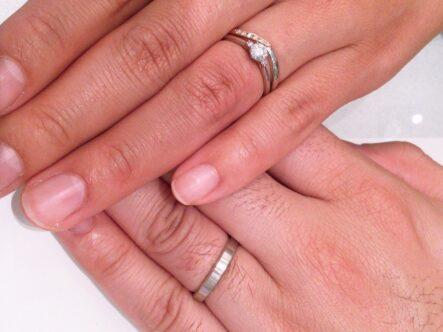 ガーデンオリジナルの婚約指輪とミルク&ストロベリーの結婚指輪をご成約頂きました。(泉北郡)