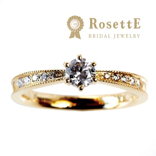 ゴールドの婚約指輪デザインでRosettEの星空