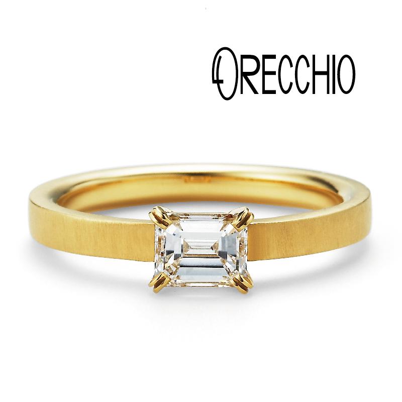 ゴールドの婚約指輪デザインでORECCHIOのLF811