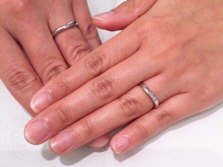 ブリッジの結婚指輪をご成約頂きました。(堺市北区)