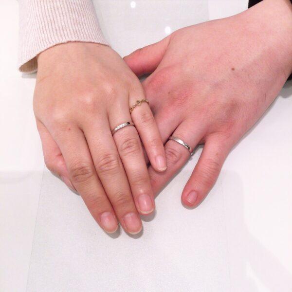 ロゼットの結婚指輪をご成約頂きました。(堺市)