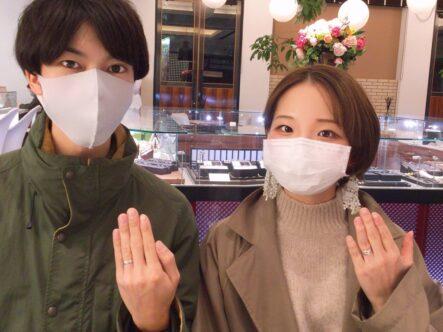 イロノハの婚約指輪とフィッシャーの結婚指輪をご成約頂きました(大阪府堺市南区)