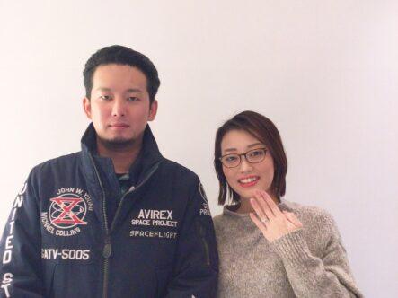 マリアージュエントの婚約指輪をご成約いただきました(大阪府岸和田市 東京)