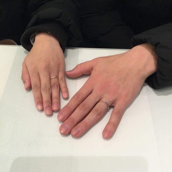 ミルク&ストロベリーの結婚指輪をご成約いただきました(大阪府堺市西区)