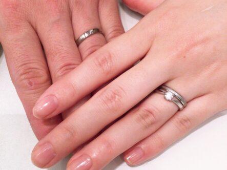 ロゼットの婚約指輪とフィッシャーの結婚指輪をご成約頂きました(大阪府泉佐野市)