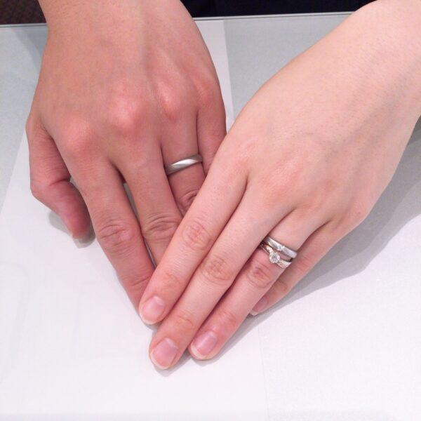 ラパージュの婚約指輪とフィッシャーの結婚指輪をご成約いただきました(高知県 奈良県)