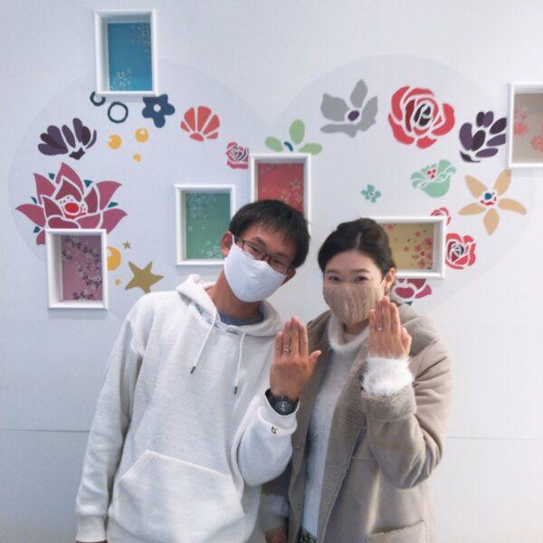 ひなの婚約指輪とロゼットの結婚指輪をご成約頂きました(大阪府岸和田市)
