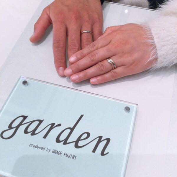 ラパージュの婚約指輪とミルク&ストロベリーの結婚指輪をご成約頂きました