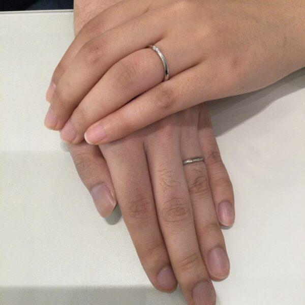 エトルの結婚指輪をご成約頂きました(大阪府泉佐野市 八尾市)